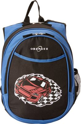 Obersee Kids Pre-School Racecar Backpack with Integrated Lunch Cooler Racecar - Obersee Everyday Backpacks