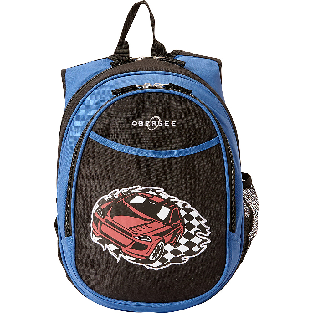 Obersee Kids Pre School Racecar Backpack with Integrated Lunch Cooler Racecar Obersee Everyday Backpacks