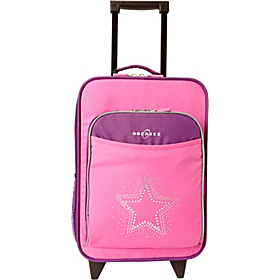 O3 Kids Star Luggage With Integrated Cooler Purple Pink Bling Rhinestone Star