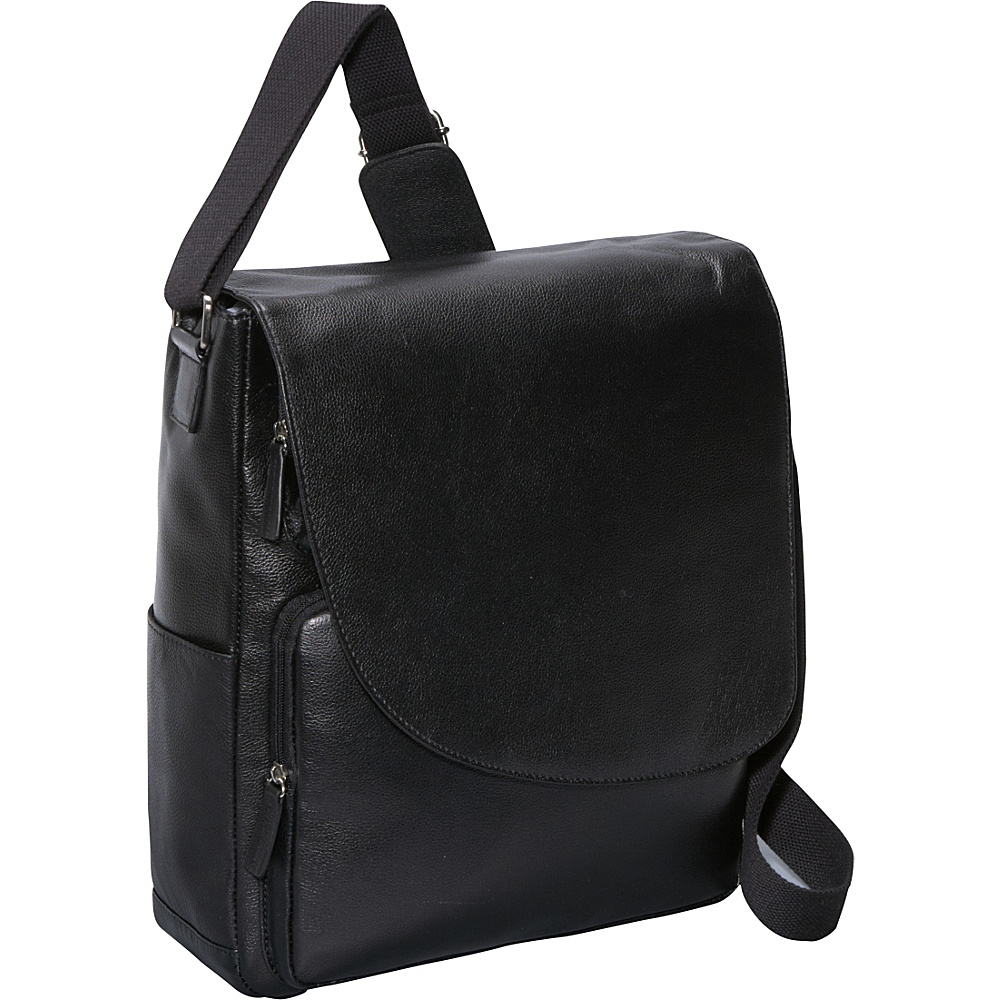 Bellino Max Messenger Bag Black - Bellino Messenger Bags - Work Bags & Briefcases, Messenger Bags