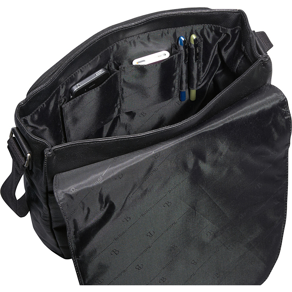 Bellino Max Messenger Bag Black - Bellino Messenger Bags