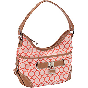 9 Jacquard Small Hobo Tangerine Cream