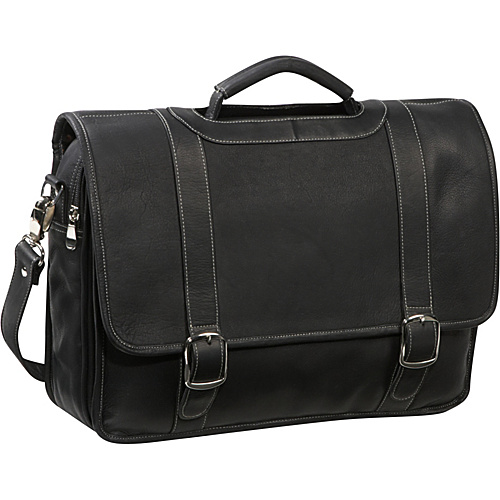 David King & Co. Deluxe Porthole Briefcase with Organizer Black - David King & Co. Non-Wheeled Business Cases
