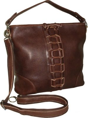 AmeriLeather Mandy Leather Handbag - Chestnut Brown