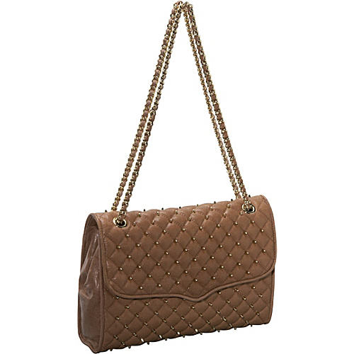 Rebecca Minkoff Large Affair Quilted Shoulder Bag Taupe - Rebecca Minkoff Designer Handbags