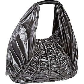Melina Rouched Nylon Hobo Gunmetal