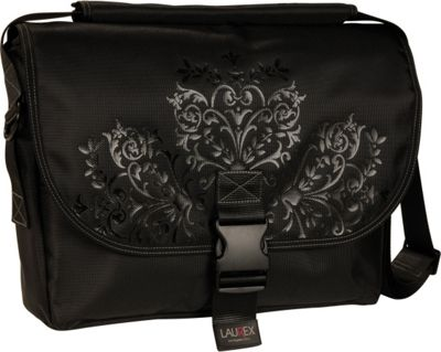 Laurex Laptop Messenger Bag - Medium Freezia Grove - Laurex Messenger Bags