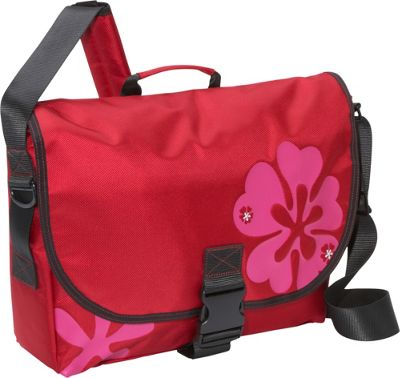 Laurex Laptop Messenger Bag - Medium Red Clover - Laurex Messenger Bags