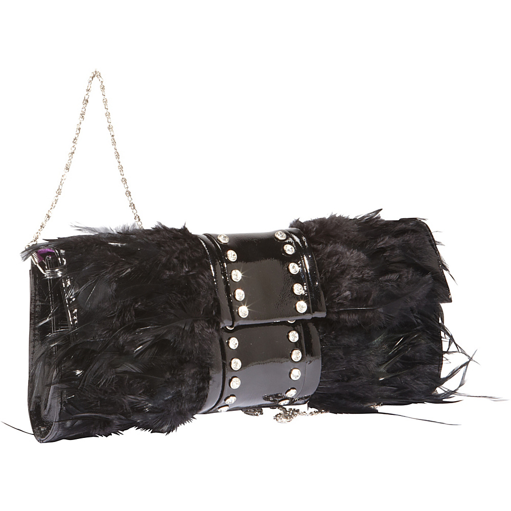 Vizzini Inc. Diamond Feathers Black Vizzini Inc. Leather Handbags