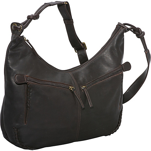 Derek Alexander Large Hobo Brown - Derek Alexander Leather Handbags