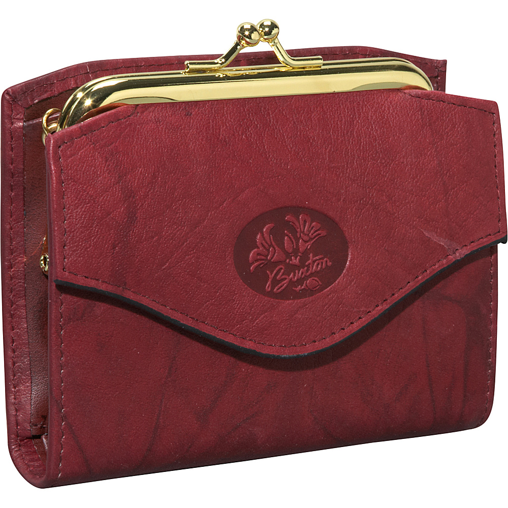 Buxton Heiress French Purse Burgundy - Buxton Women's Wallets