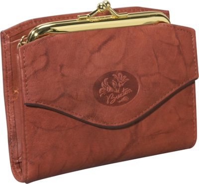 Buxton Heiress French Purse Mahogany - Buxton Women's Wallets