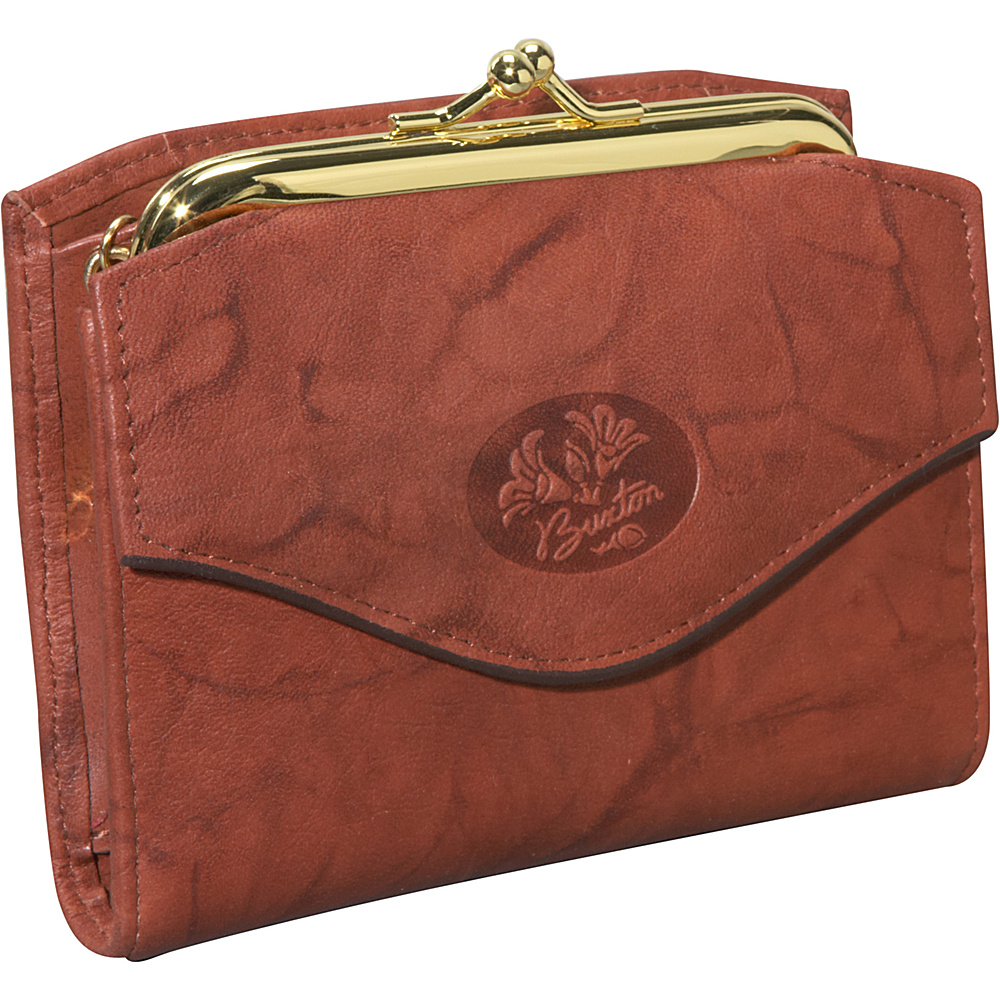 Buxton Heiress French Purse Mahogany - Buxton Womens Wallets - Women's SLG, Women's Wallets