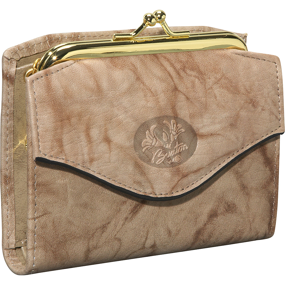 Buxton Heiress French Purse Taupe - Buxton Women's Wallets