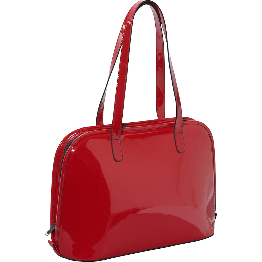 Jack Georges Patent Collection Large 3-way-zip Laptop Business Tote Red - Jack Georges Women's Business Bags