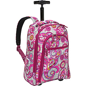 Rolling Backpack  Paisley Meets Plaid
