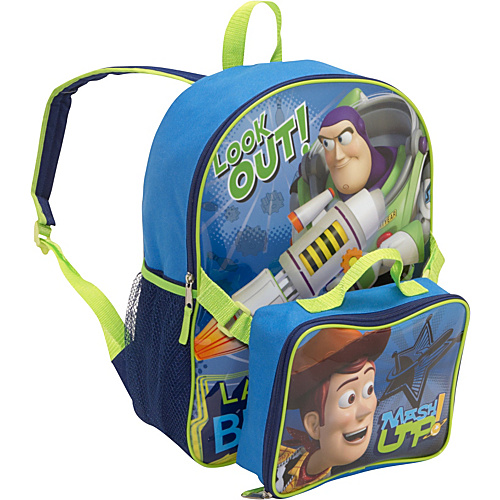 Disney Toy Story 3 Backpack with Lunch Sack Blue - Disney Kids' Backpacks