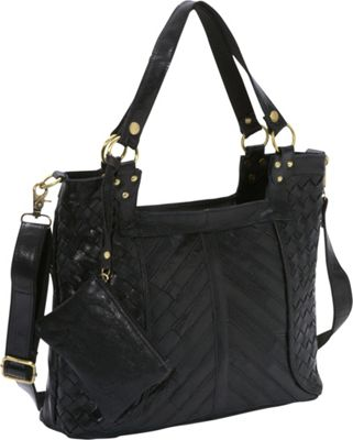 AmeriLeather Hazelle Leather Shoulder Bag Black - AmeriLeather Leather Handbags