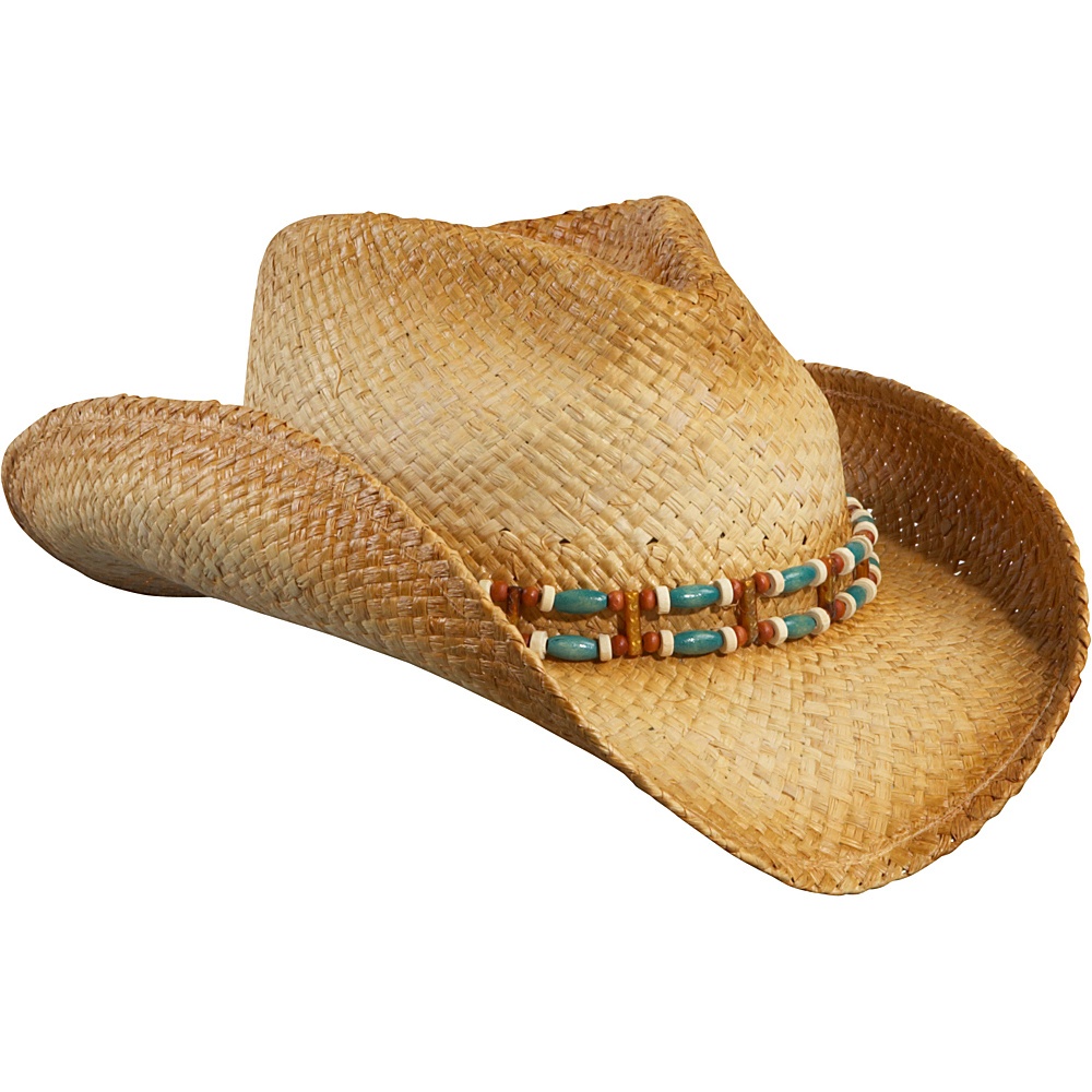 Sun N Sand Texas Charley Western Hat One Size - Natural - Sun N Sand Hats/Gloves/Scarves - Fashion Accessories, Hats/Gloves/Scarves