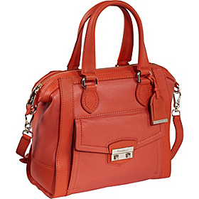 Zoe Small Structured Satchel Orange Pop