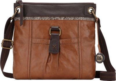 The Sak Kendra Crossbody Bag Brown Snake Multi - The Sak Leather Handbags