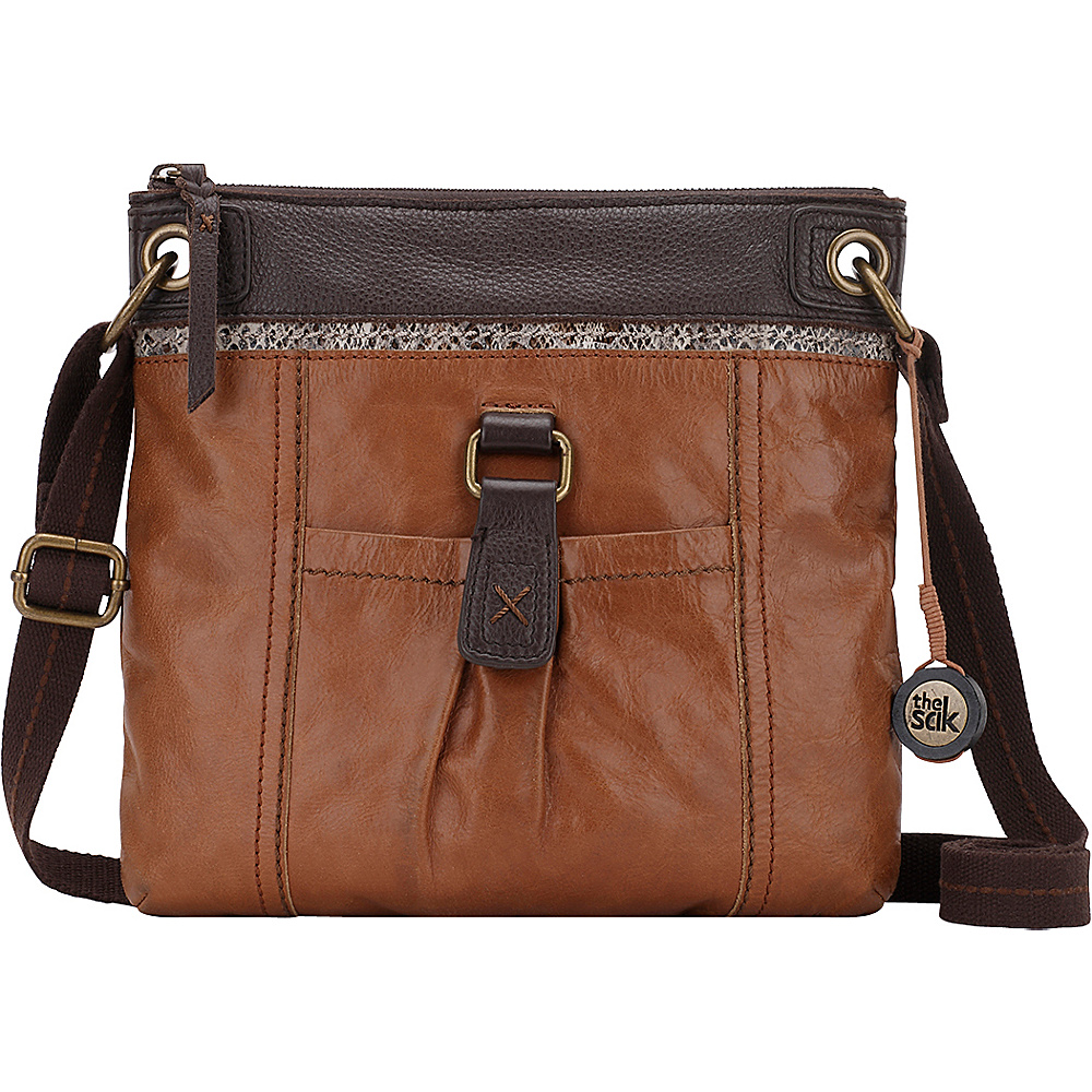 The Sak Kendra Crossbody Bag Brown Snake Multi The Sak Leather Handbags