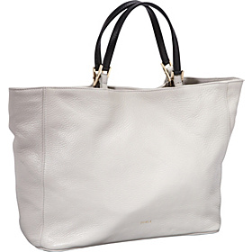 Gemini Pebble Leather  Medium Shopper Gin Tonic/Olive
