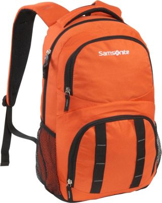 Samsonite Stratford Backpack Deep Orange Samsonite Laptop Backpacks