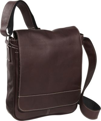 David King & Co. Deluxe Medium Flap Over Messenger Cafe - David King & Co. Other Men's Bags