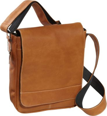 David King & Co. Deluxe Medium Flap Over Messenger Tan - David King & Co. Other Men's Bags