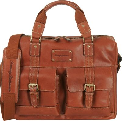 Tommy Bahama Back 9 Zip Briefcase Cognac - Tommy Bahama Non-Wheeled Business Cases