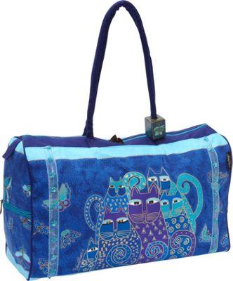Laurel Burch Indigo Cats Blue - Laurel Burch Travel Duffels