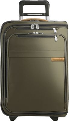Briggs & Riley Baseline Domestic Carry-On Upright Garment Bag Olive - Briggs & Riley Garment Bags