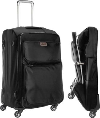 "Image of biaggi Contempo Foldable 25"" Expandable Spinner Black - biaggi Large Rolling Luggage"