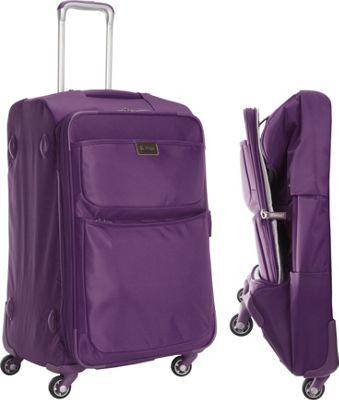 "Image of biaggi Contempo Foldable 25"" Expandable Spinner Purple - biaggi Large Rolling Luggage"