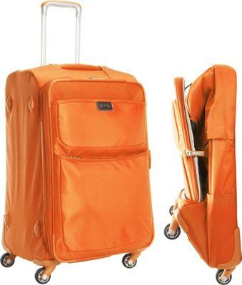 """Image of biaggi Contempo Foldable 25"""" Expandable Spinner Orange - biaggi Large Rolling Luggage"""