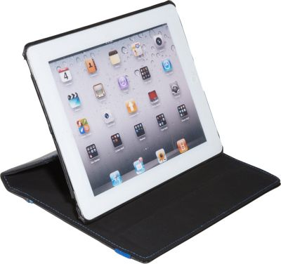 SOLO Active Tablet Case for iPad Black with Blue Trim - SOLO Electronic Cases