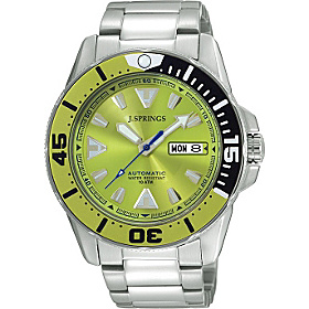 Automatic Diver Mens Watch Lime Dial
