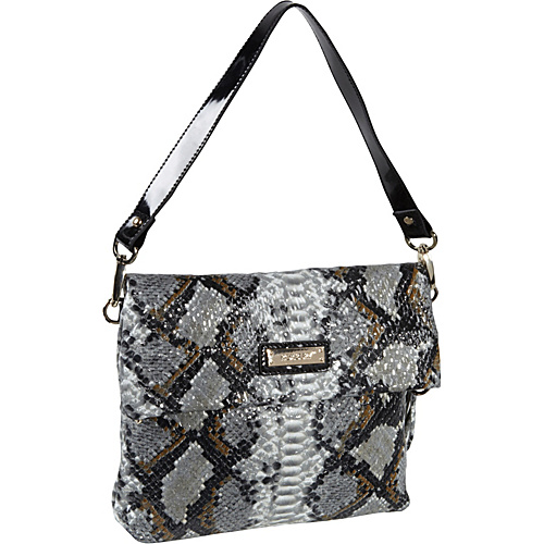 Roxbury Batya Python Satchel Black - Roxbury Leather Handbags