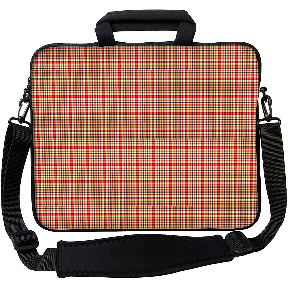 Designer Sleeves 17 Executive Laptop Sleeve by Got Skins? Designer Sleeves Rusty Plaid Designer Sleeves Electronic Cases