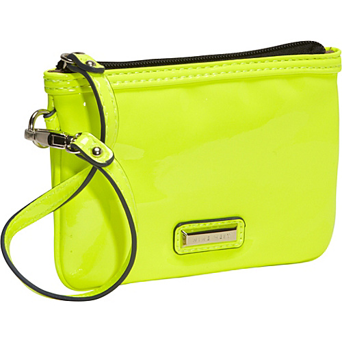 Nine West Handbags Day Glo Mini Wristlet Electric Yellow - Nine West Handbags Ladies Small Wallets