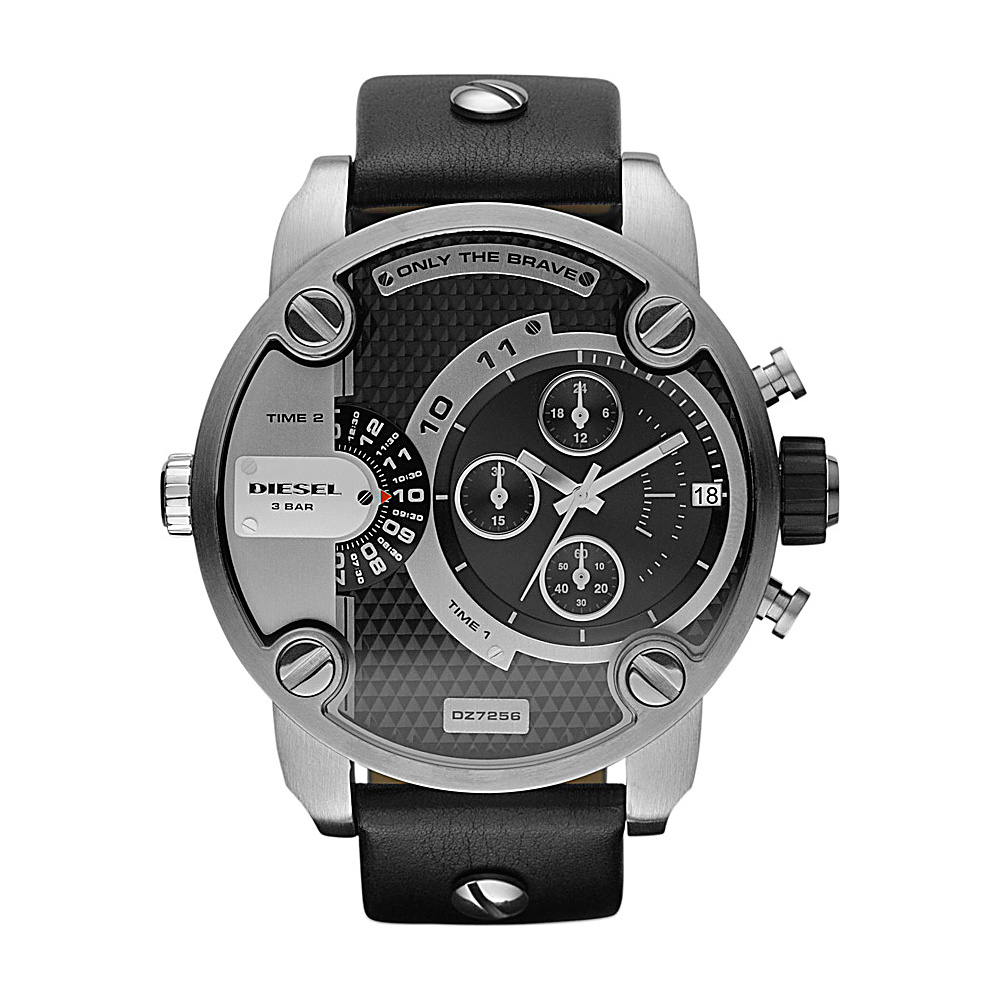 Diesel Watches Little Daddy Black and Silver - Diesel Watches Watches