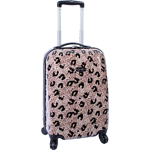 "Jessica Simpson Luggage Leopard 20"" Twister Hardside Natural - Jessica Simpson Luggage Small Rolling Luggage"