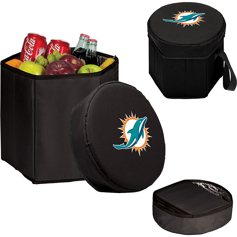 Picnic Time Miami Dolphins Bongo Cooler Miami Dolphins Black - Picnic Time Outdoor Coolers - Outdoor, Outdoor Coolers