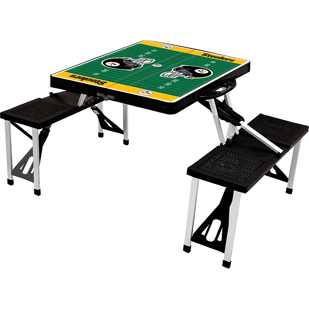 Picnic Time Pittsburgh Steelers Picnic Table Sport Pittsburgh Steelers Black - Picnic Time Outdoor Accessories - Outdoor, Outdoor Accessories
