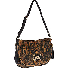 Wild Things Snake Velour Ciara Hobo Amaretti