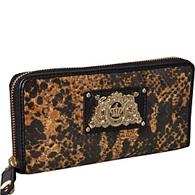 Wild Things - Snake Velour $ Pieces  Zip Wallet Amaretti