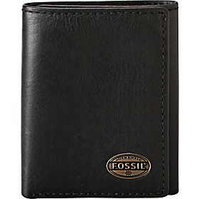 Estate Zip Trifold Wallet Black