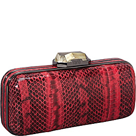 Demi WaterSnake Box Clutch Watermelon