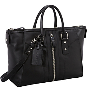 Jayden Nappa with Zipper Satchel Black